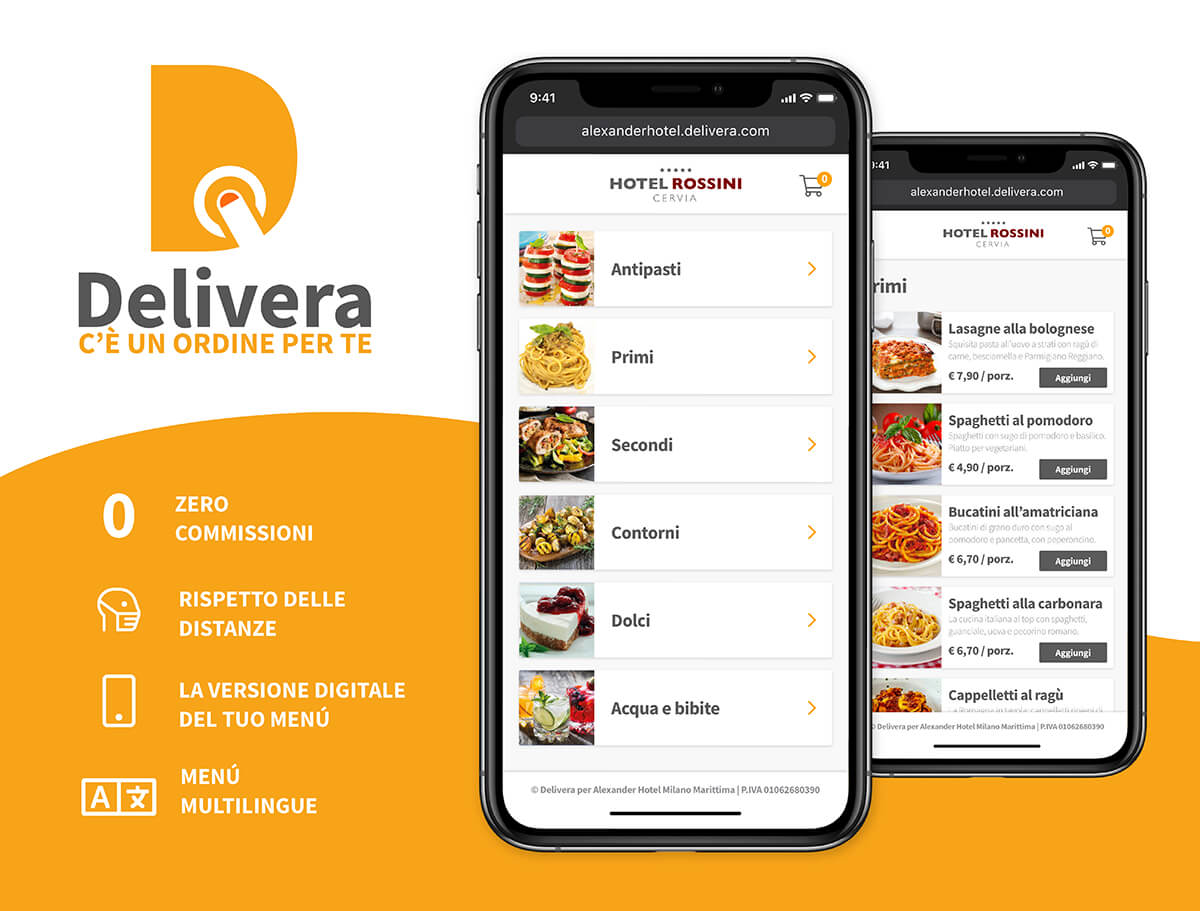Delivera - Soluzione App e Web per Take-Away